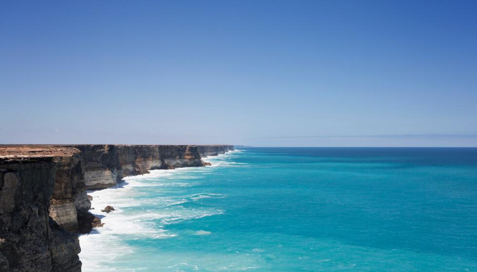UNIK NATUR: Australbukta omtales som unik og urørt, og har blant annet verdens lengste sammenhengene sjøklipper. 85 prosent av artene i området, er ikke funnet andre steder på planeten. Foto: Shutterstock / NTB Scanpix