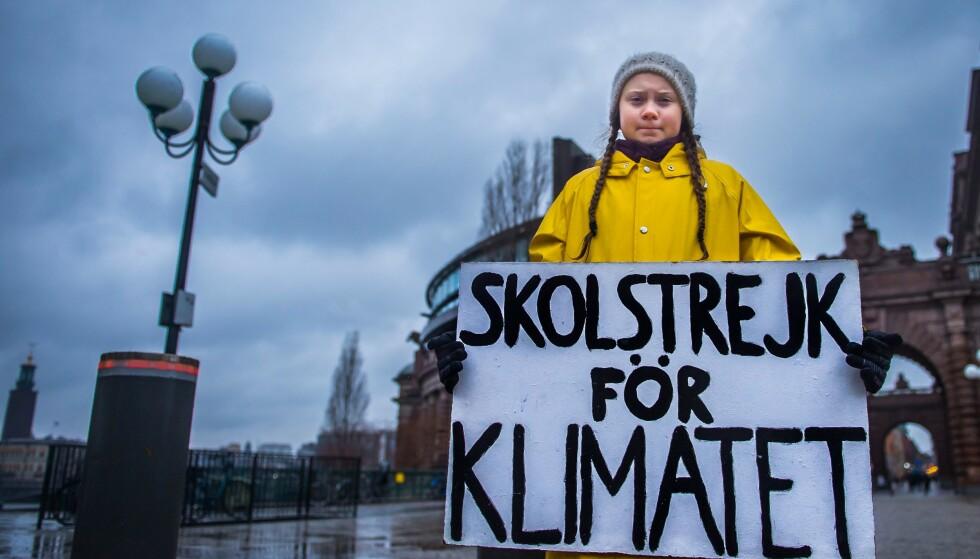 Leder: Greta Thunberg kanskje årets mest innflytelsesrike menneske. Måtte hun overbevise og mobilisere enda flere i åra som kommer, skriver Dagbladet på lederplass. Her fra Foto: AFP