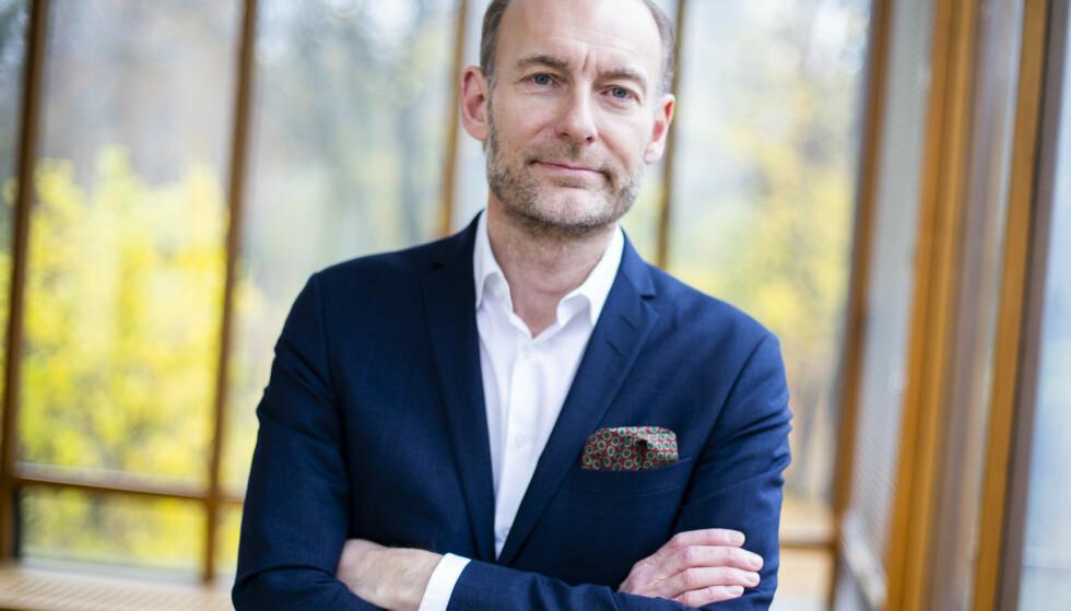ÅMÅS: Fritt Ord-direktør Knut Olav Åmås dras frem av Døving som en årsak til hetere debattklima. Foto: Håkon Mosvold Larsen / NTB scanpix
