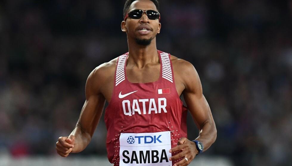 UMULIG Å RETESTE: Etter Asia-lekene i 2018 er alle eventuelle dopingspor slettet. Abderrahaman Samba er bare en av flere hundre idrettsstjerner som hadde tjent på bedre kontroll. Nå er det umulig å ettergå prestasjonene deres. FOTO: AFP/Jewel Samad.