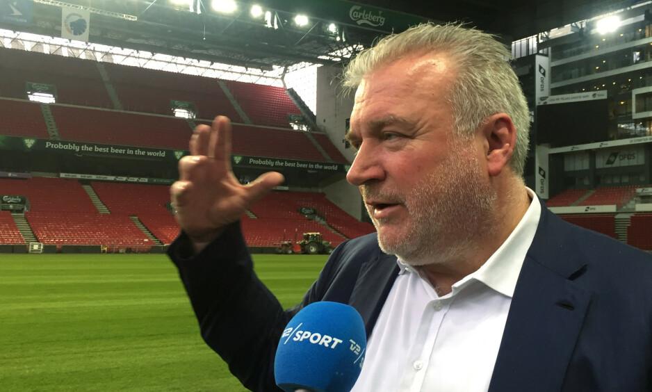 FCK-EIER: Milliardæren Lars Seier Christensen eier fotballklubben FC København, og er blant Danmarks rikeste menn. Nå langer han ut mot Trump-kritikerne. Foto: Reuters / NTB Scanpix