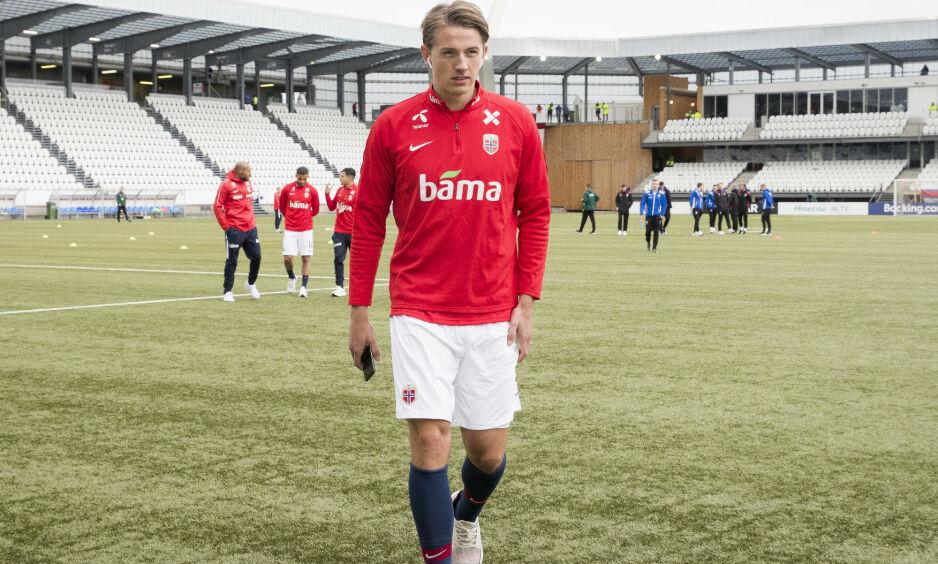 BLIR I GENK: Sander Berge tror han blir værende i Belgia. Foto: Terje Pedersen / NTB scanpix