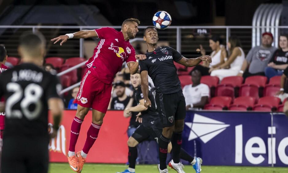 SCORET: Ola Kamara spilte sin første hjemmekamp for D.C. United, og scoret en perle. Foto: Reuters.