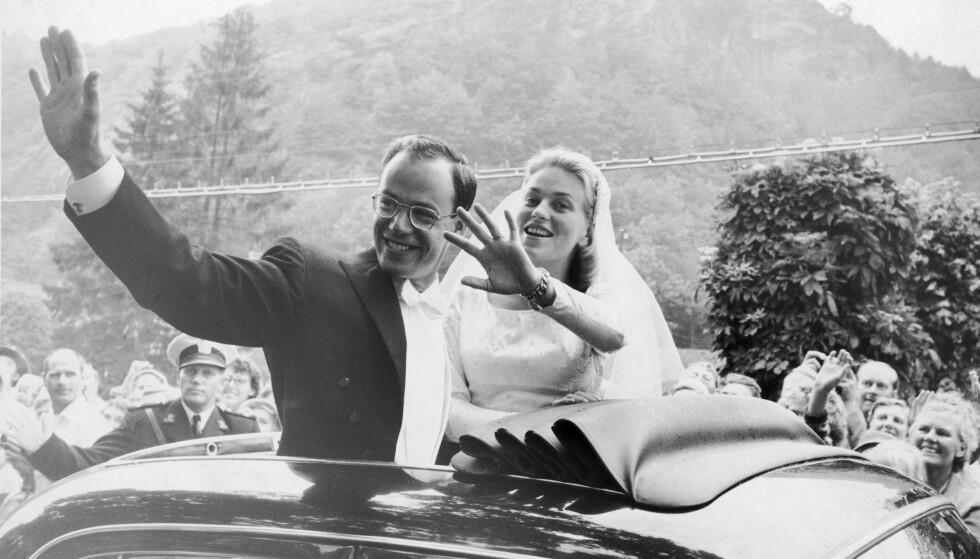 STOR STÅHEI: Anne Marie Rasmussen og Steven Rockefellers bryllup er kanskje det største som har vært i Norge. Foto: Aktuell / SCANPIX