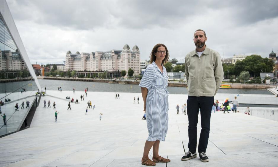 <strong>Første norske HBO-serie:</strong> Eilif Skodvin og Anna Bjørnstad har lyst til å videreutvikle «Beforeigners»-universet. Foto: Carina Johansen