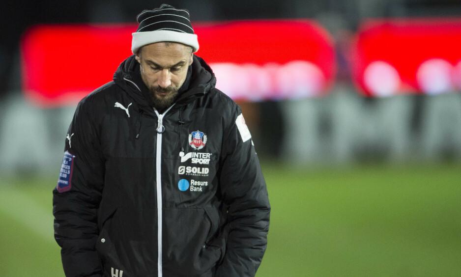 FERDIG: Henrik «Henke» Larsson gir seg som Helsingborg-trener etter bare to måneder. Foto: Björn Lindgren/TT / NTB scanpix