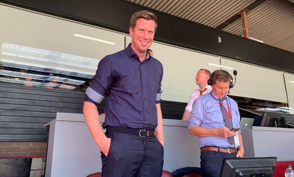 TV 2-DUO: Jesper Mathisen (t.v.) kommenterte Manchester United - Crystal Palace i tospann med Kasper Wikestad. Foto: Tore Ulrik Bratland