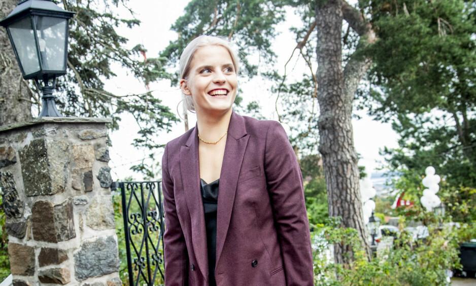 <strong>TV-AKTUELL:</strong> Mandag blir Ulrikke Falchs nye serie tilgjengelig for seerne. Det gleder hun seg til. Foto: Christian Roth Christensen / Dagbladet