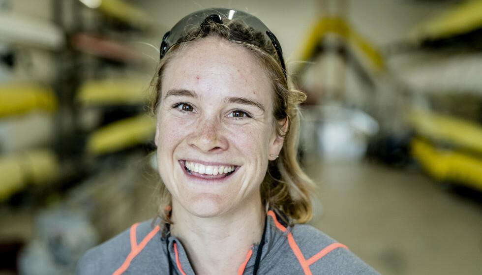 TRE STRAKE: VM-gull for Birgit Skarstein. Foto: NTB scanpix
