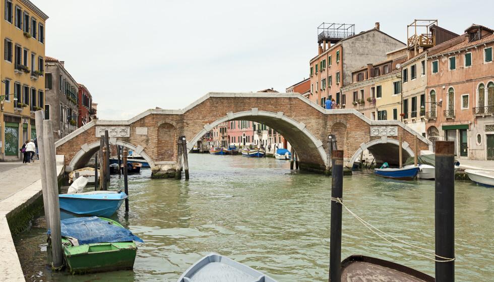 IKKE LOV: To norske kvinner i 20-åra ble kastet ut av Venezia og fikk 450 euro hver i bot etter å ha badet her i Cannaregio-kanalen. Foto: Didier Descouens/Wikimedia commons