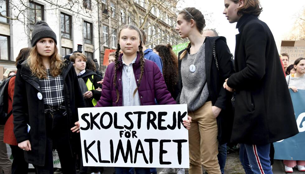 ENTYDIG BUDSKAP: I «Streik for klimaet» er Greta Thunbergs taler fra det siste året samlet. Foto: NTB SCANPIX