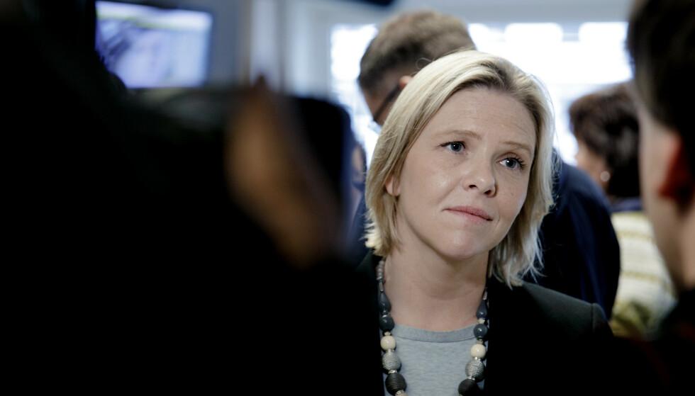 ELDREMINISTER: Eldre- og folkehelseminister Sylvi Listhaug vil forskriftsfeste at par som ønsker det skal få bo sammen på sykehjem. Foto: Paul Sigve Amundsen / NTB scanpix