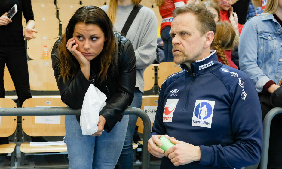 SKADET: Nora Mørk er blant stjernene som er skadet og høyst sannsynlig ikke med til VM i Japan. Foto: Fredrik Hagen / NTB scanpix