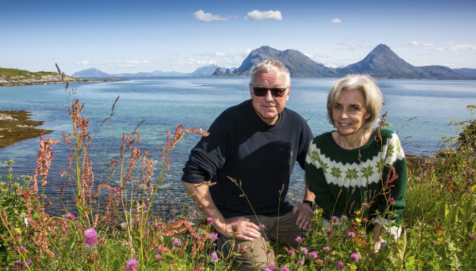 EKTEPAR: Forfatter Roy Jacobsen og kona Anneliese Pitz har samarbeidet om romanen om den tyske eventyreren Fritz Dörries. Foto: Hans Petter Sørensen
