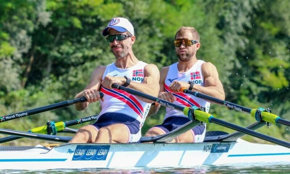 TIL FINALE: Kristoffer Brun (t.h.) og Are Strandli. Foto: NTB Scanpix
