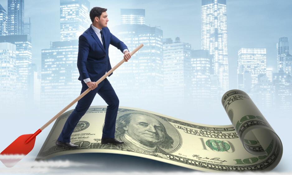 PENGEFLUKT: De rikeste familiene og selskapene minimaliserer skatten ved å flytte denne utgiften til andre land, ofte skatteparadiser. ILLUSTRASJON: Shutterstock / NTB scanpix