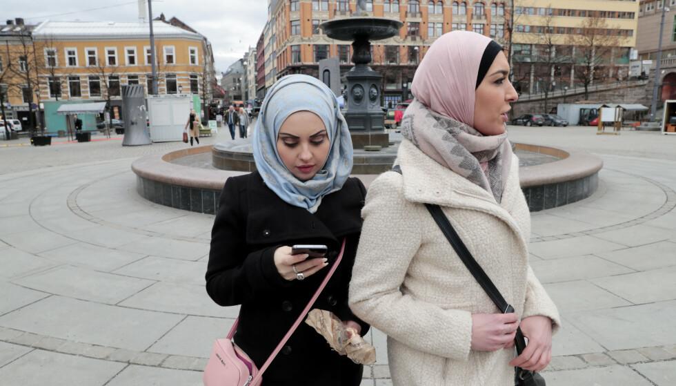 HATOBJEKT: For aller første gang viser statistikken at majoriteten av dem som blir utsatt for hatkriminalitet basert på deres muslimske bakgrunn, er kvinner, skriver innsenderen som er bekymret for sin nyfødte datters framtid. Foto: Lise Åserud / NTB scanpix
