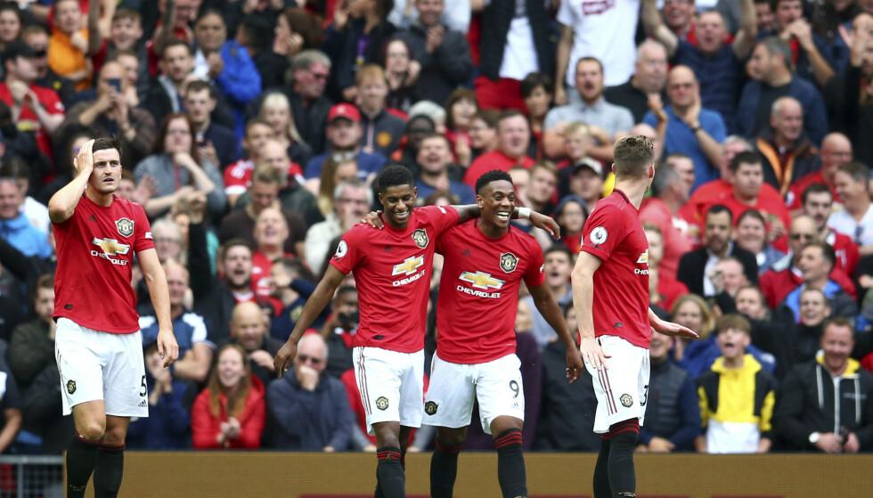 SKADET: Manchester Uniteds Anthony Martial er skadd. Foto: Dave Thompson / AP / NTB scanpix