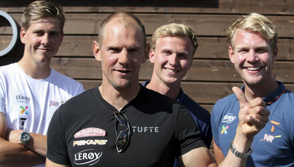 SIKRET OL-PLASS: Oscar Stabe Helvig, Olaf Tufte, Martin Helseth og Erik Solbakken. Foto: Vidar Ruud / NTB Scanpix