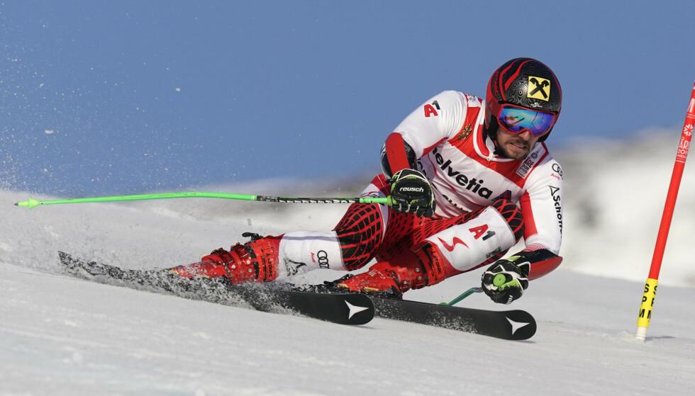 LEGGER OPP: Alpinkongen Marcel Hirscher har ifølge østerrikske medier bestemt seg for å legge opp. Foto: Cornelius Poppe / NTB scanpix