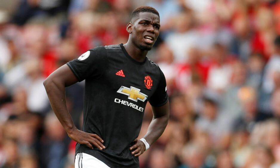 ETT POENG: Paul Pogba og Manchester United spilte 1-1 mot Southampton lørdag ettermiddag. Foto: NTB scanpix