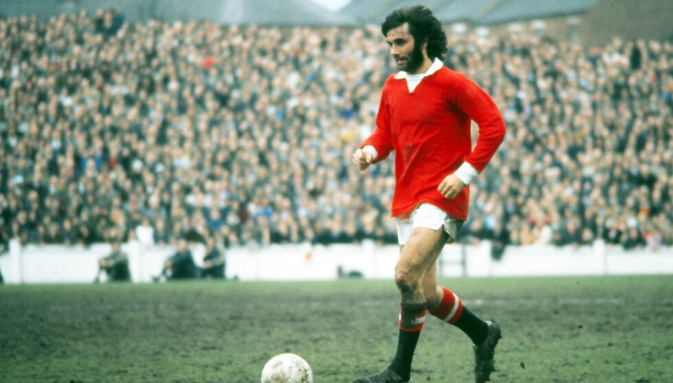 LEGENDE: George Best spilte i Manchester United på 60- og 70-tallet. Dette bildet er fra 1971, da United slo Coventry 3-2 må Highfield Road. Foto: NTB Scanpix