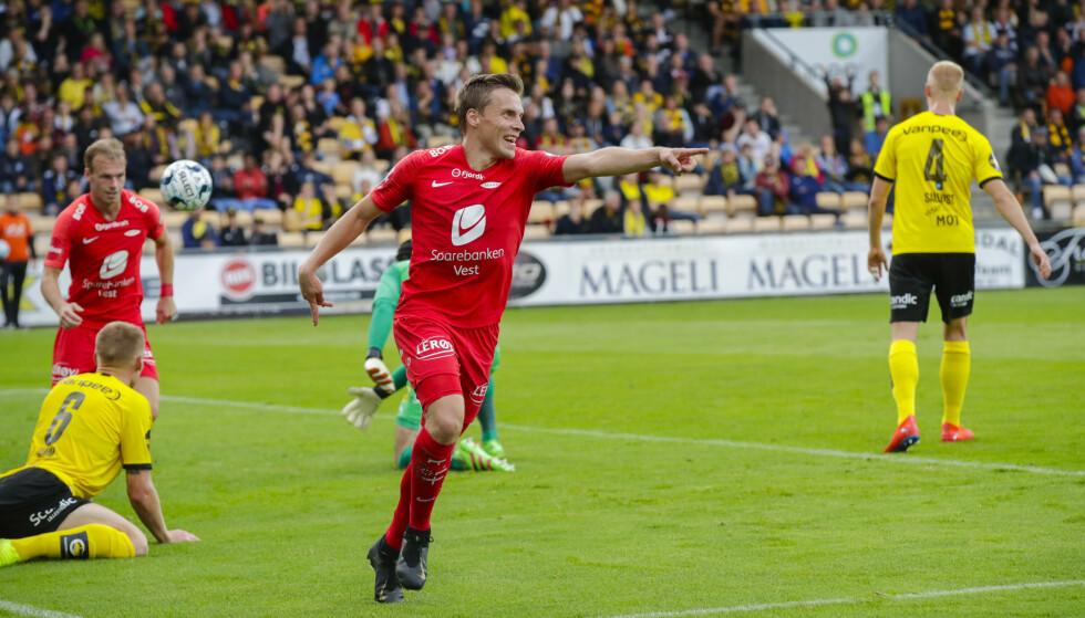 Lillesstrøm  2019901.  Ruben Yttergård Jenssen har scoret 1-2  under kampen mellom Lillestrøm og Brann. Foto: Vidar Ruud / NTB scanpix