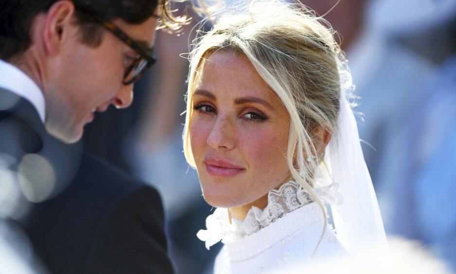 GIFT: Artist Ellie Goulding giftet seg i helga med kjæresten Caspar Jopling i et storslått bryllup i katedralen av York. Foto: NTB Scanpix