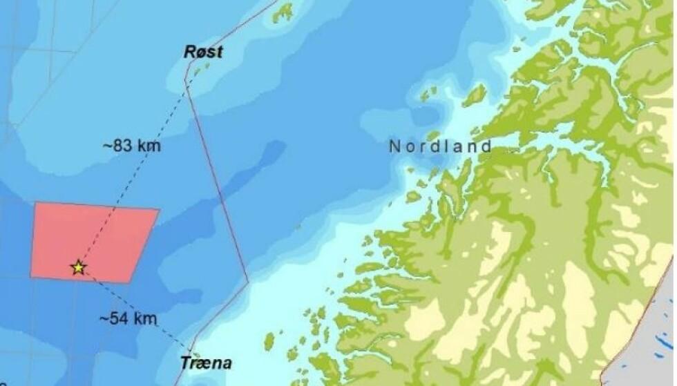 <strong>SKAL BORE:</strong> Det tillates prøveboring fra og med 1.september i området utenfor nordlandskysten. Bildet er hentet fra søknaden til det tyske oljeselskapet DEA.