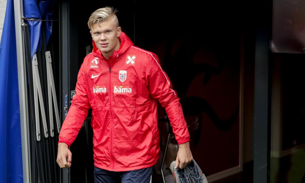 TRENER MED NORGE: Erling Braut Haaland kan få debuten på A-landslaget mot Malta torsdag. Foto: Vidar Ruud / NTB scanpix