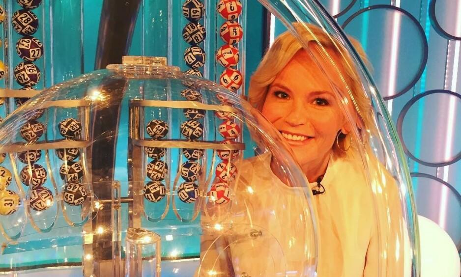DETTE FÅR DU IKKE SE: Lotto-programleder Ingeborg Myhre avslører flere hemmeligheter fra Lotto-sendingene og fra hva som skjer bak kameraet. Foto: Privat