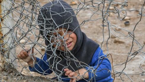 FANGET: 47 000 barn lever under grusomme forhold i al-Hol-leiren i Syria. Foto: Giuseppe Cacace / Afp / Scanpix )