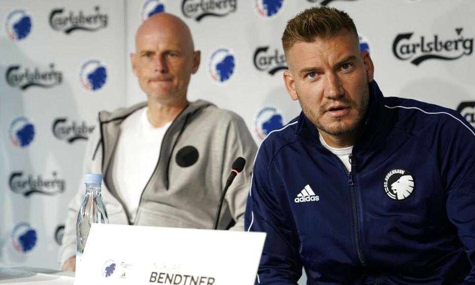 UVANLIG SPØRSMÅL: Onsdag ble Nicklas Bendtner spurt om han har planer om å utnytte seg av Københavns uteliv. Foto: Niels Christian Vilmann / NTB Scanpix