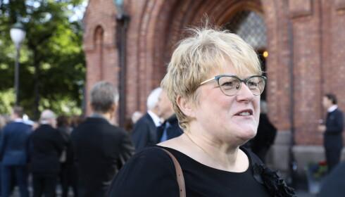 <strong>BRØYTET VEI:</strong> Kultur- og likestillingsminister Trine Skei Grande (V) talte varmt om Preus under bisettelsen. Foto: Nina Hansen