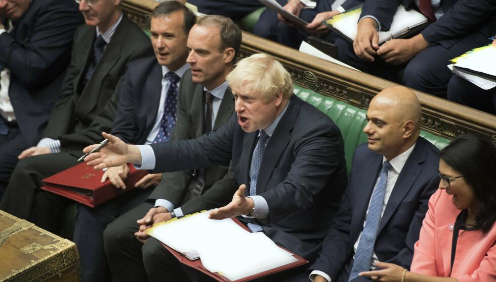 NEDERLAG: Denne uka har statsminister Boris Johnson gått fra det ene nederlaget til det fjerde i Underhuset. Han har vist seg nådeløs, men maktesløs. Foto: Jessica Taylor / House of Commons / AP / NTB Scanpix