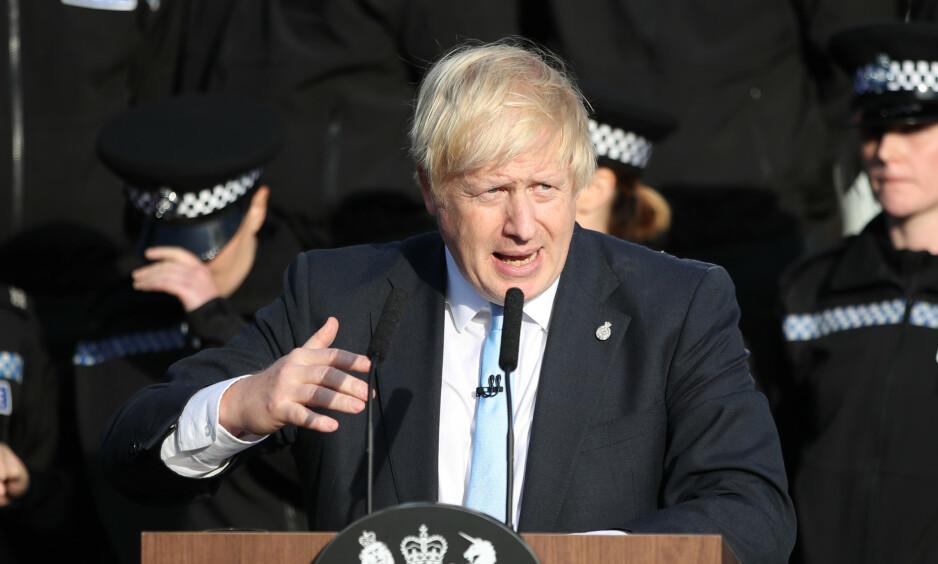 - REN DONALD TRUMP: «Den mest ekstraordinære statsministerpressekonferanse vi har sett på årevis», og «ren Donald Trump» skriver en kommentator i the Guardian etter statsminister Boris Johnsons pressekonferanse torsdag kveld. Foto: NTB Scanpix.