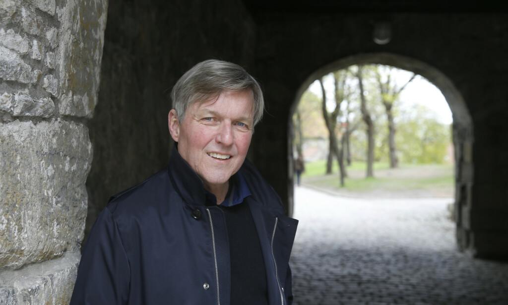 VIKINGSERIE: Jan Ove Ekeberg er ute med tredje bok i serien om den siste vikingkongen. Foto: NTB SCANPIX