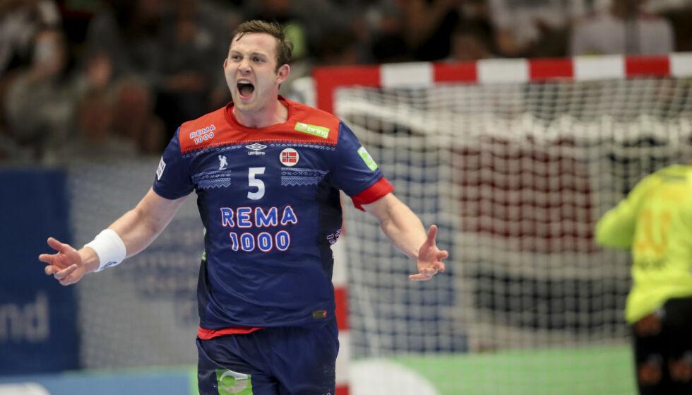 UTE: Sander Sagosen har pådratt seg en skade, og spiller ikke mot Elverum lørdag. Foto: Vidar Ruud / NTB scanpix