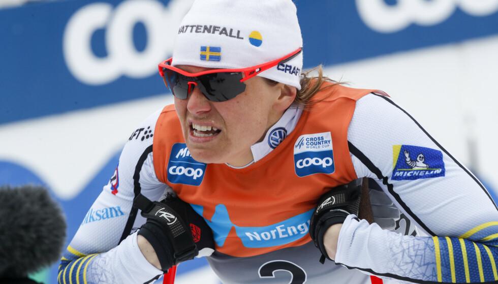 FERDIG: Ida Ingemarsdotter la skiene på hylla etter forrige sesong. Foto: Terje Bendiksby / NTB scanpix