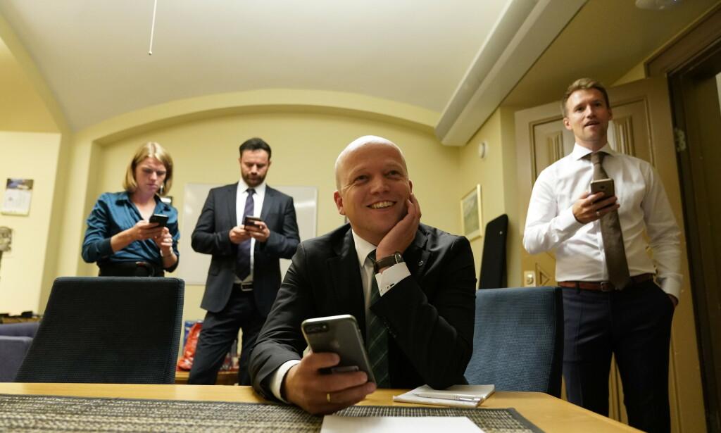 VALGETS VINNER: Senterpartiet ligger an til å bli valgets store vinner. Foto: John T. Pedersen / DAGBLADET