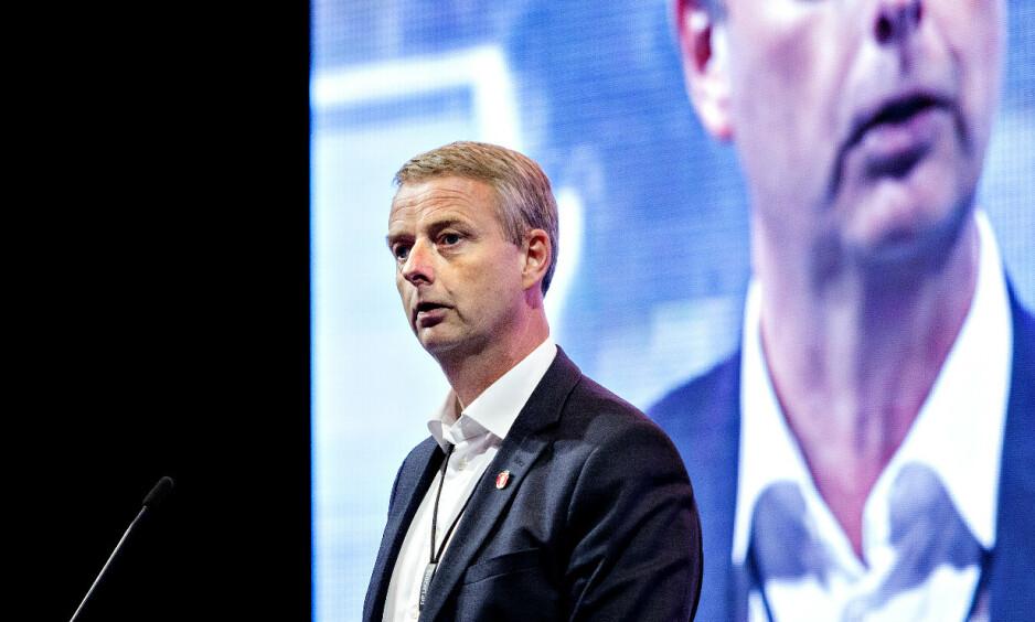 FERDIG: Terje Søviknes, her på Frp's landsmøte tidligere i år, er ferdig som ordfører. Foto: Nina Hansen / Dagbladet