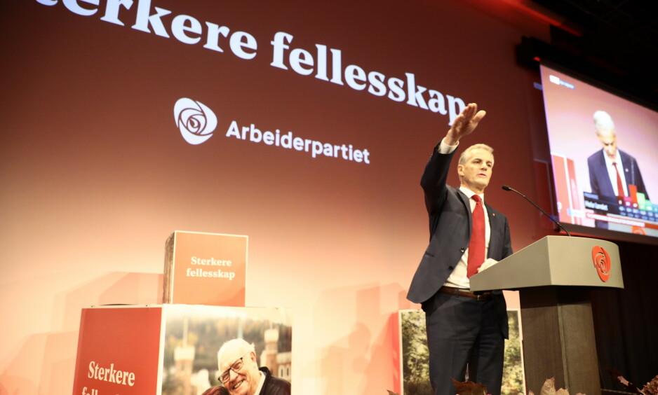 KUNNE GÅTT VERRE: Jonas Gahr Støre innrømmer at han ble lettet over at målinger ned mot 20 prosent ikke slo til. Han innrømmer at det er et dårlig valg, og sier det er særlig smertefullt å tape så stort i nord. Nå lover han en kraftinnsats for at Ap skal bli det ledende partiet i Nord-Norge. Foto NIna Hansen/Dagbladet