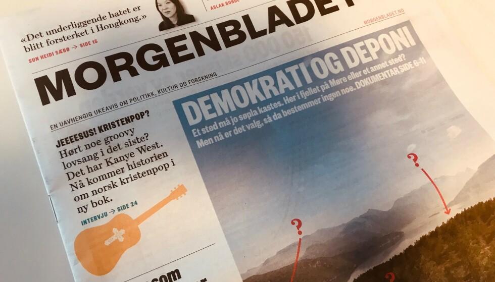 KUTTER: Avisa Morgenbladet kutter åtte millioner kroner. Foto: Caroline Drefvelin