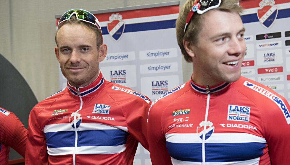SKAL TIL VM: Alexander Kristoff og Edvald Boasson Hagen. Foto: Marit Hommedal / NTB scanpix