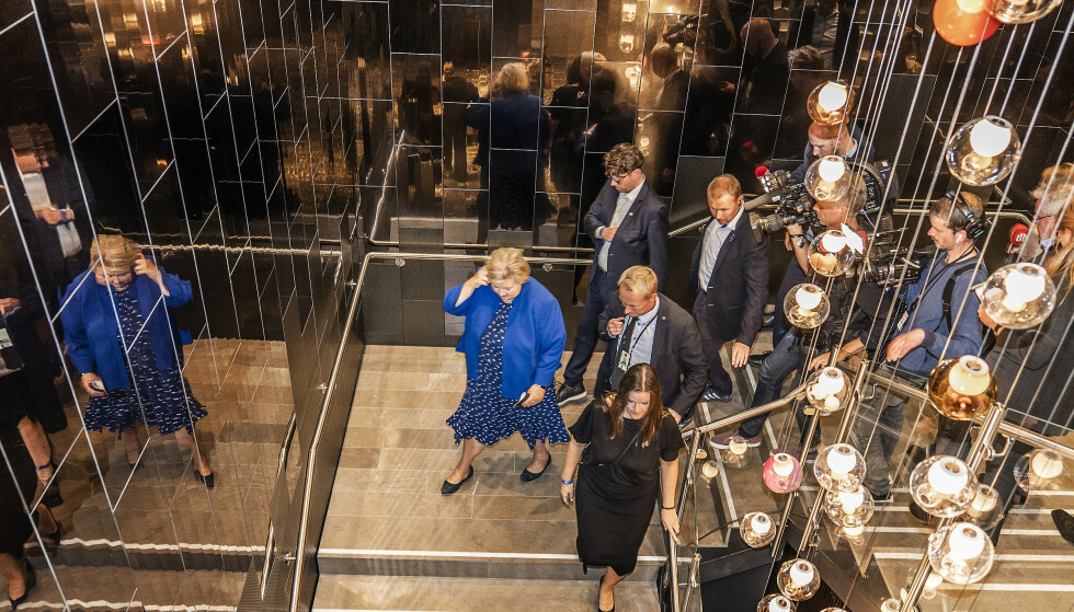 <strong>MISTET STAVANGER:</strong> Erna Solberg og Høyre kjenner allerede virkningene av valget, og mistet tirsdag Stavanger. Foto: Hans Arne Vedlog / Dagbladet