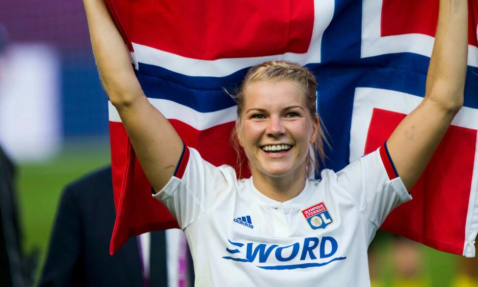 MÅLMASKIN: Ada Hegerberg er i storform. Foto: NTB Scanpix