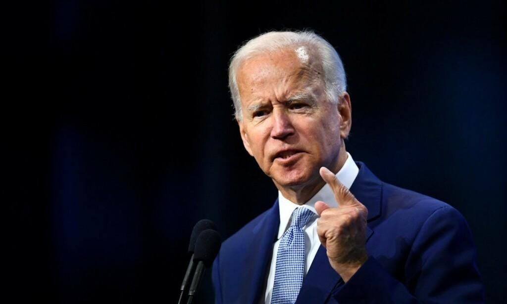 TIL DEBATT: Joe Biden er favoritt på meningsmålingene. Foto: NTB Scanpix