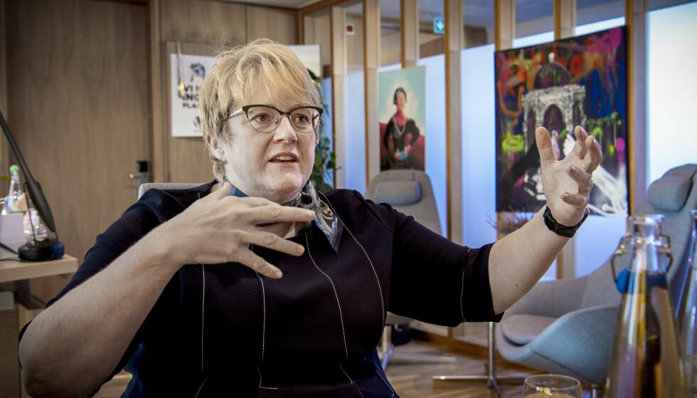 KJEMPER VIDERE: - Fornyelse kan være så mangt, sier Venstre-leder Trine Skei Grande. Hun kjemper for å overleve som partileder når Venstre samles til landsmøte i april neste år. Foto: Lars Eivind Bones