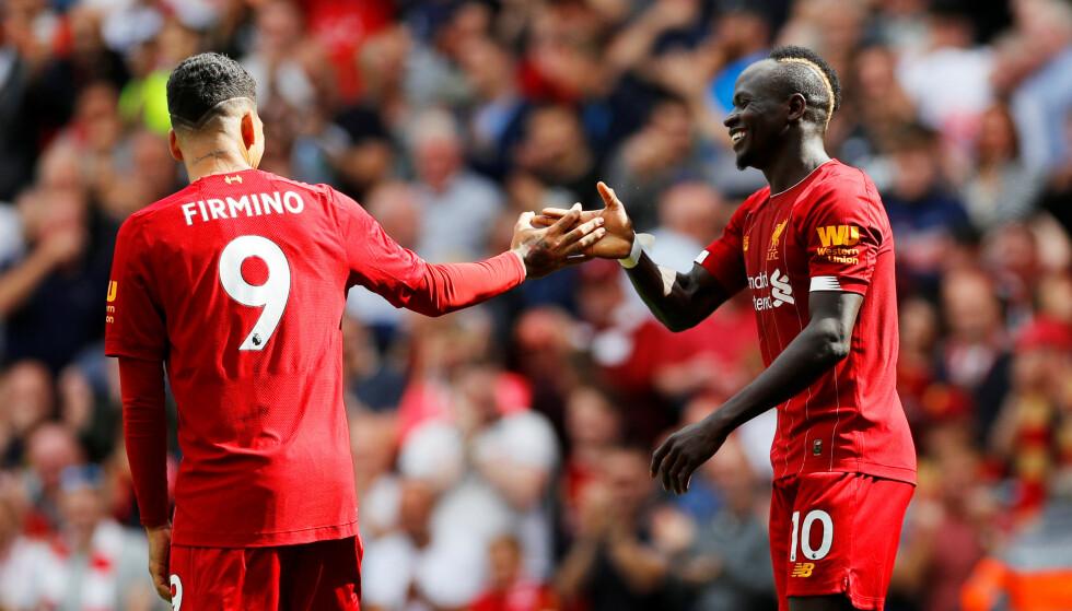 HERJET: Roberto Firmino og Sadio Mané herjet med Newcastle. Foto: NTB ScanpixS