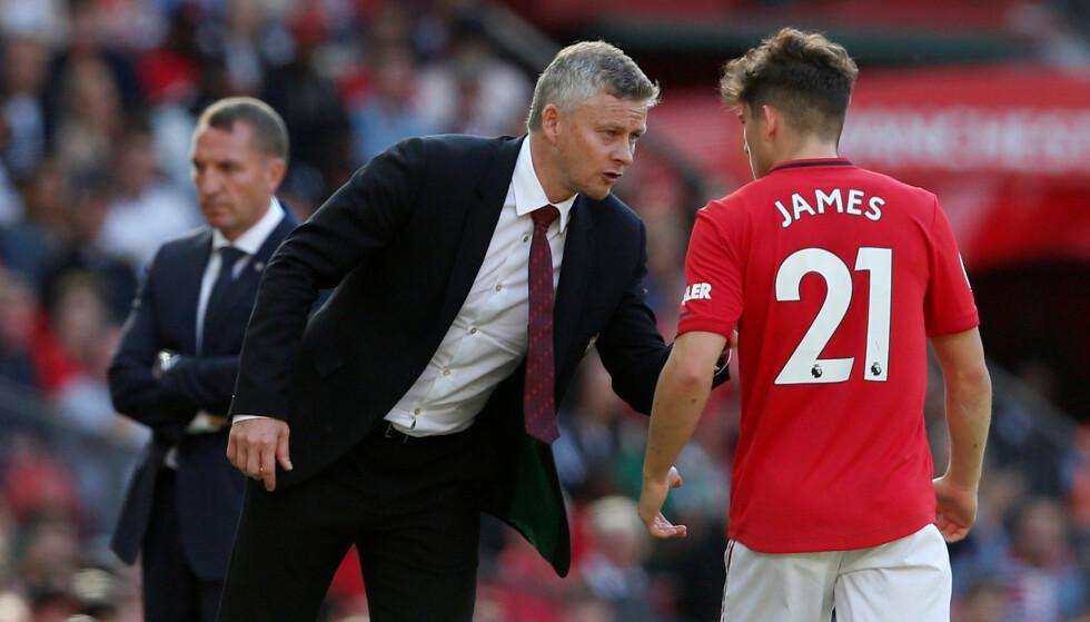 <strong>SNAKKER MED FRAMTIDA:</strong> Ole Gunnar Solskjær har tatt tøffe valg i Manchester United, og Daniel James er et av dem. Foto: REUTERS/Andrew Yates